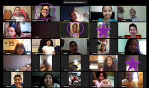 room 208 & 209 zoom meeting collage