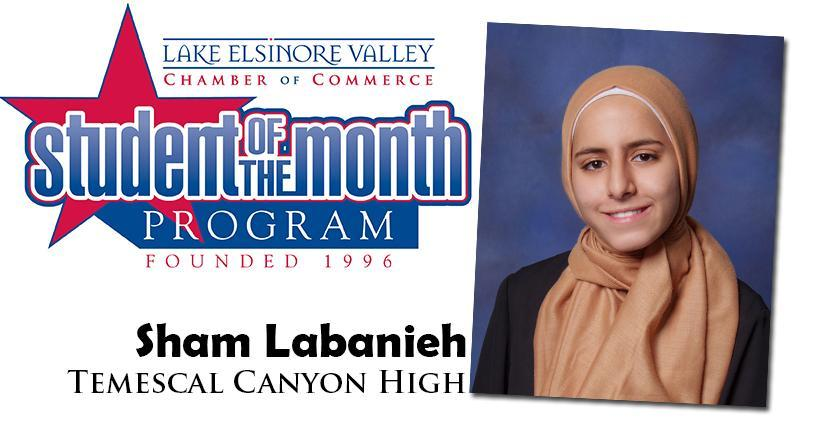 Sham Labanieh, Temescal Canyon HS, is one of our Student of the Month Program honorees for December. Congratulations!