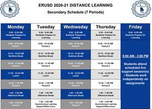 7 Period Schedule