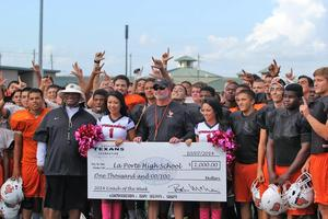 Houston Texans present Jeff LaReau a check.jpg