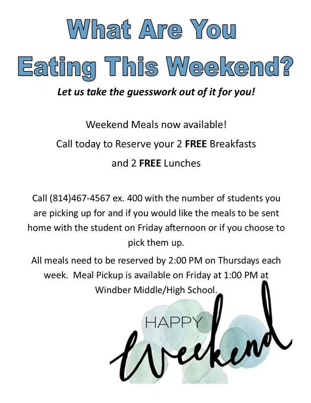 Free Weekend Meals