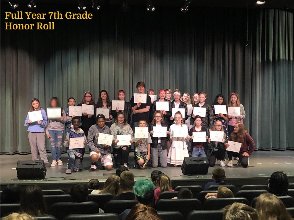 FY 7th Grade Honor Roll