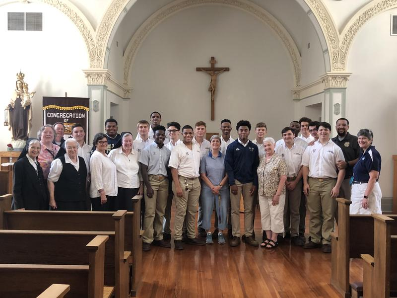Holy Cross Senior Religion Class Assists Sisters of Christian Charity with Move Featured Photo