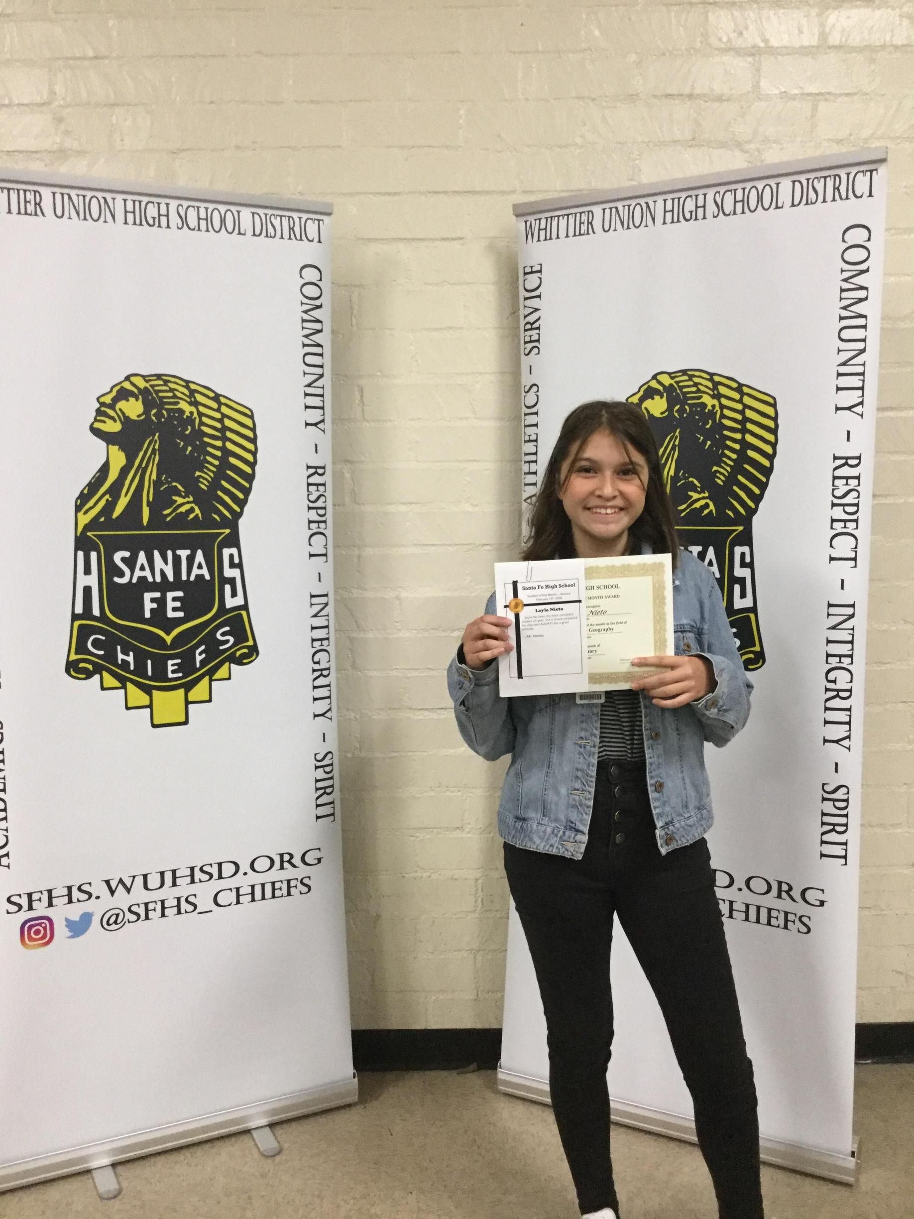 Jan 2020 Student of the month