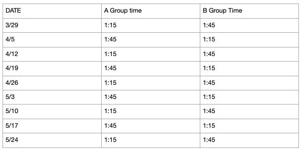 Drumline Schedule Featured Photo