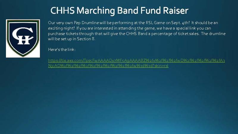 Band Fund Raiser