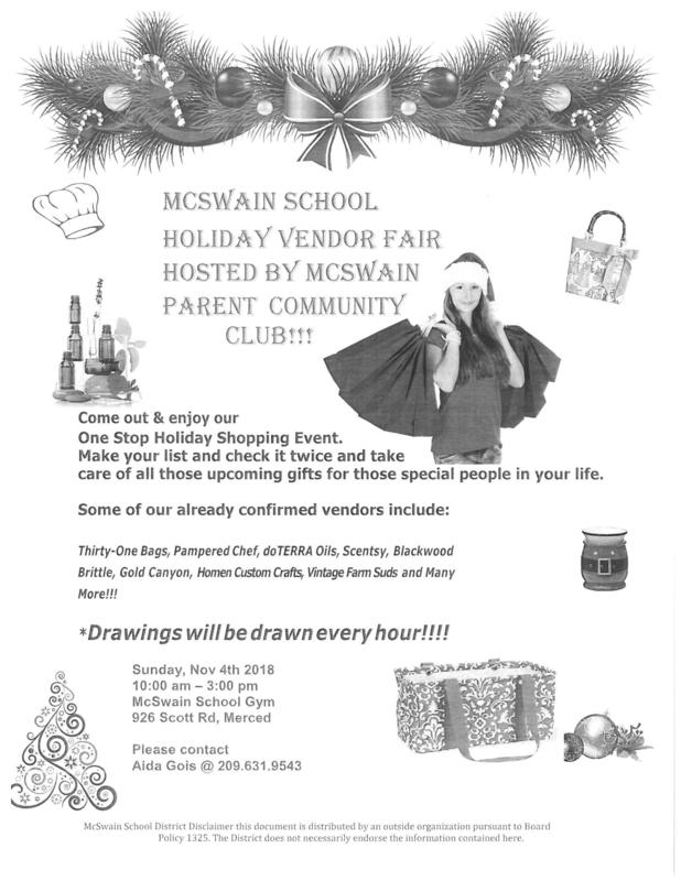 Holiday Vendor Fair Flyer