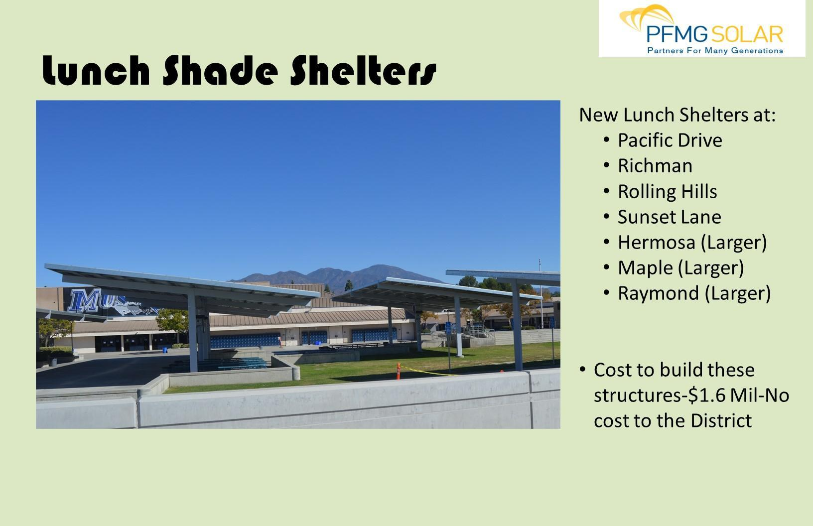 Lunch Shade Shelters
