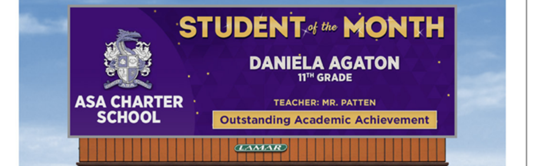 11th grade student of the month