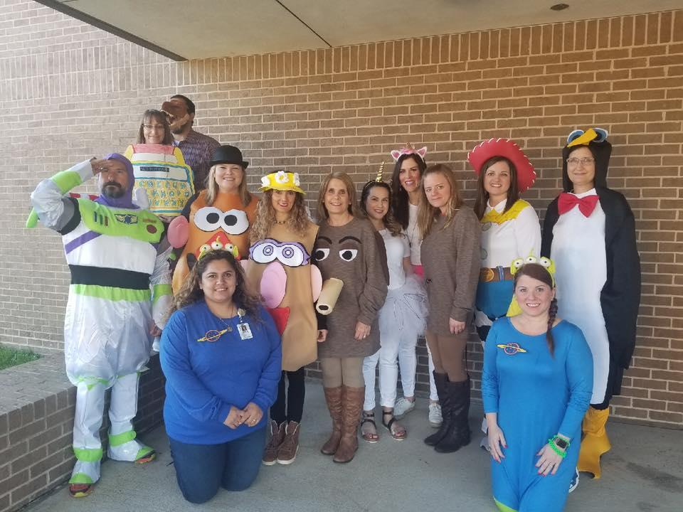 Office Staff on Character Parade Day