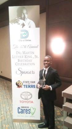 Student Winner at MLK Gala