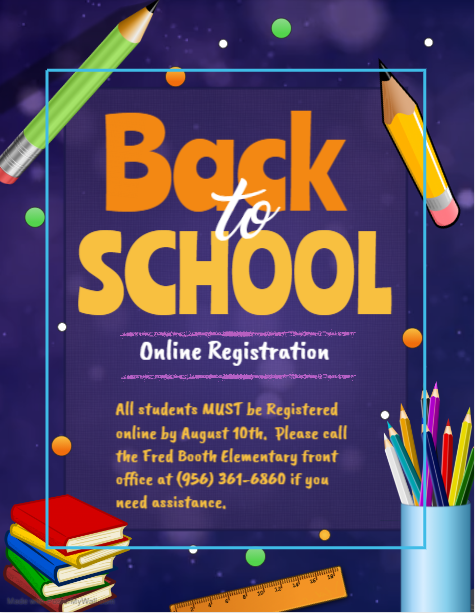 Online Registration is necessary for ALL students.