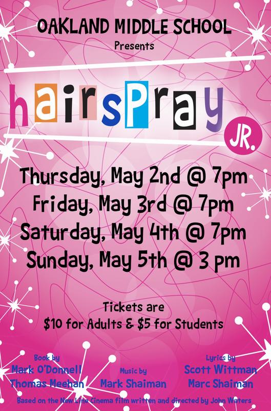 Oakland Middle School Presents Hairspray Jr. Thumbnail Image