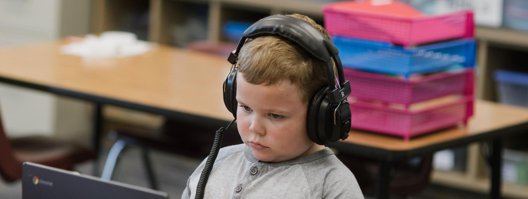 Student with Headphones