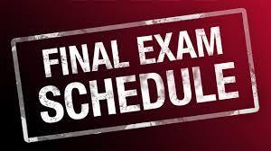 Final Exams are Monday and Tuesday Thumbnail Image