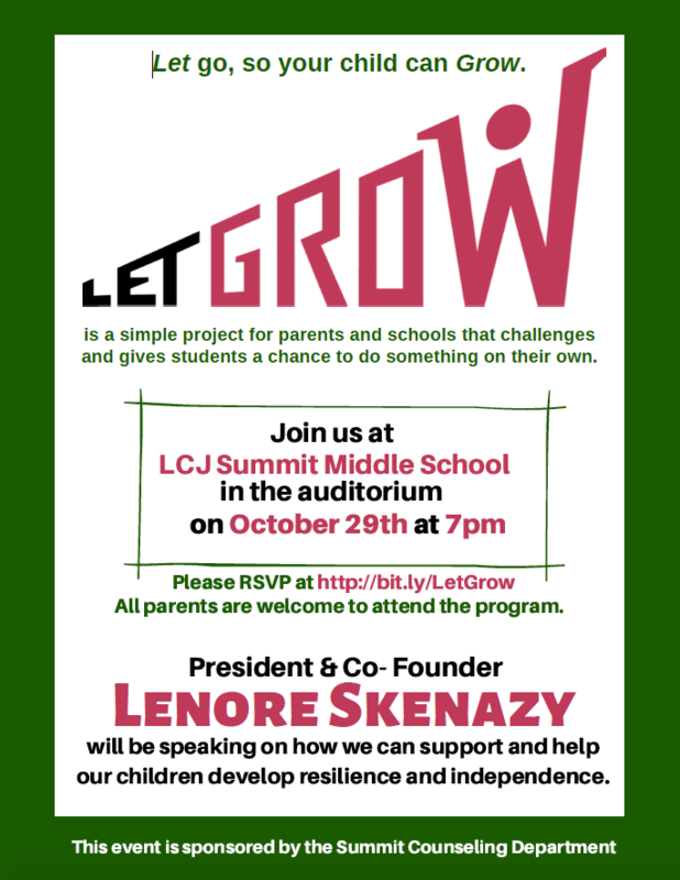 flyer for let grow program