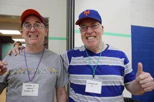 Two gentlemen enjoying Self-Advocacy Day