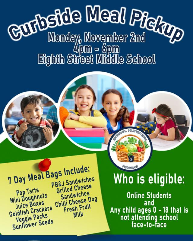 November 2nd Curbside Meal Pickup Featured Photo