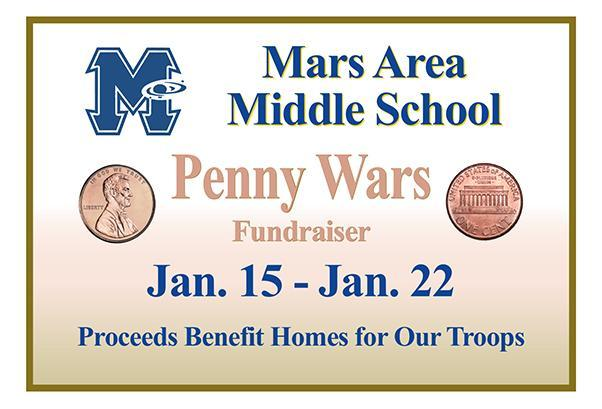 Mars Area Middle School Penny Wars
