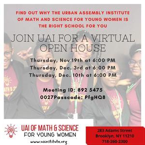 Virtual Open House Dates
