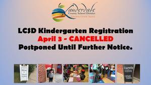 Kindergarten Registration Cancellation Flyer