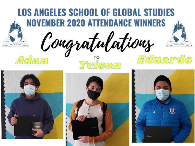 Congratulations to our November 2020 Attendance awards winners!!! Featured Photo