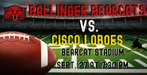 Ballinger Bearcats vs. Cisco Loboes