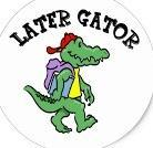 gator with backpack