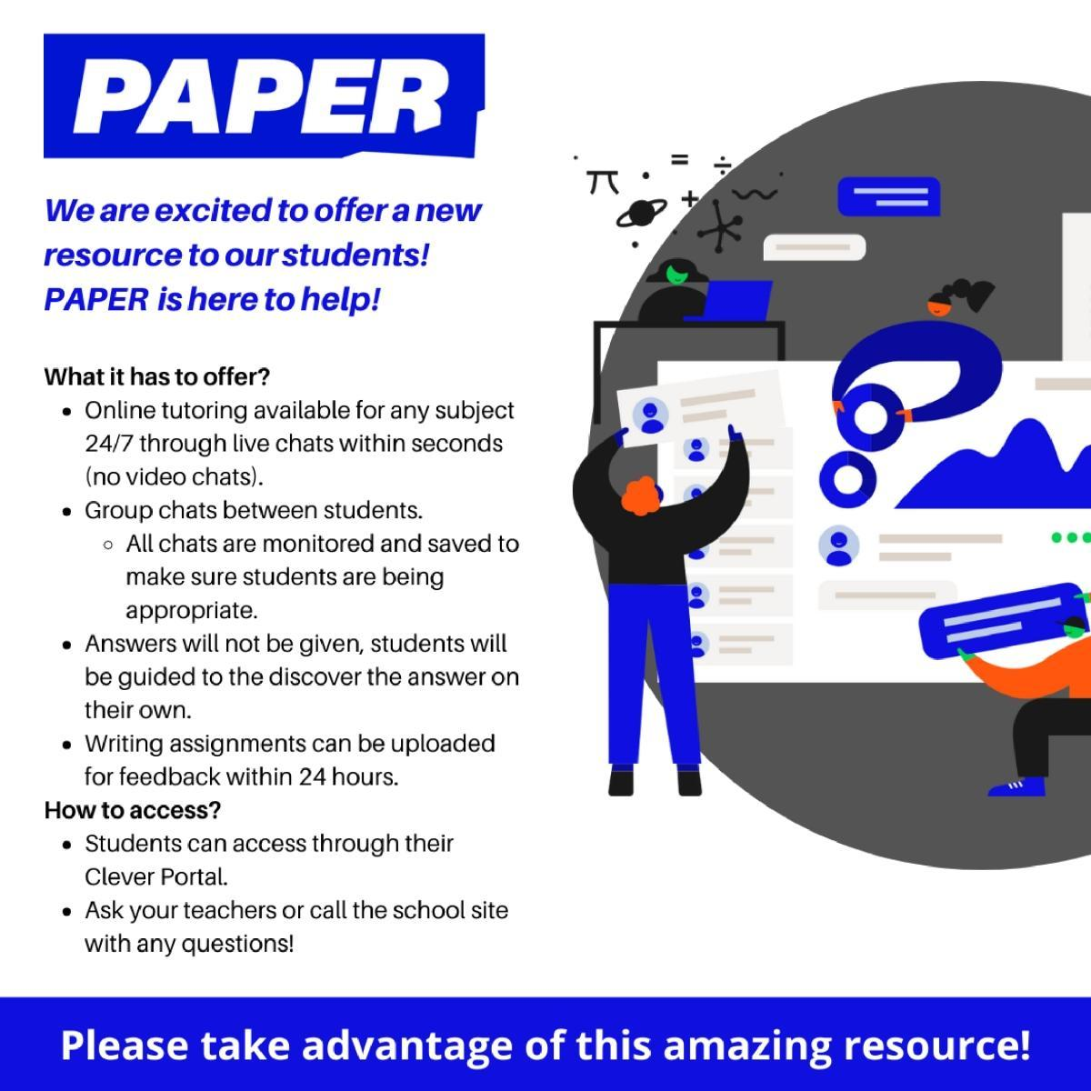 Paper Student Tutoring Resource