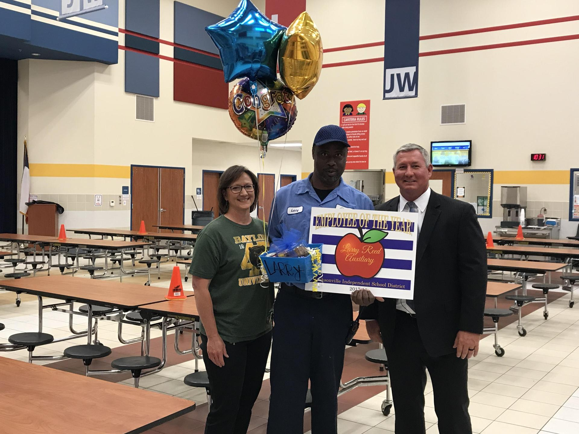 Larry Reed - Joe Wright Teacher of the Year