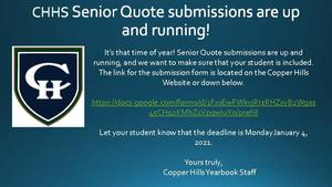 Senior Yearbook 2021 Quote Submission