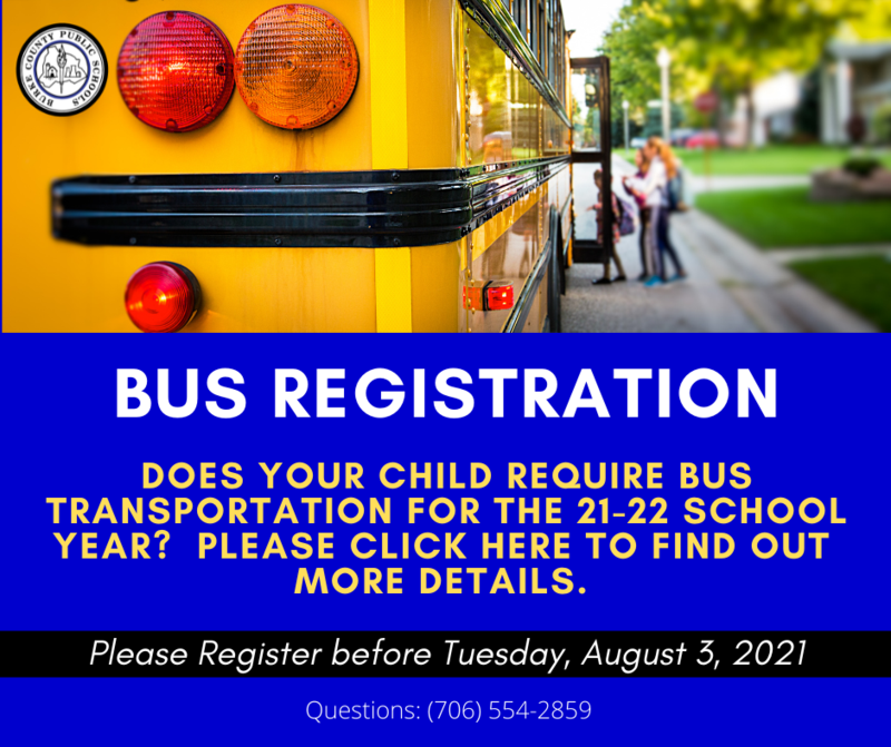 BUS REGISTRATION FOR 21-22