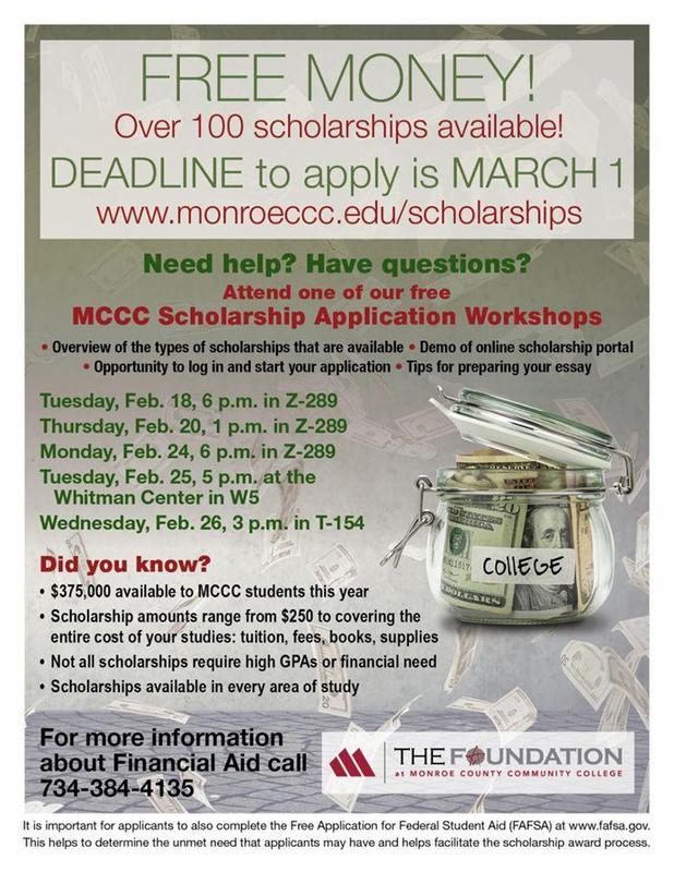 MCCC Scholarship Info