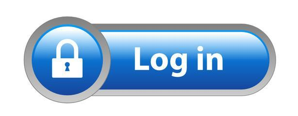 Blue Log in icon with white lock