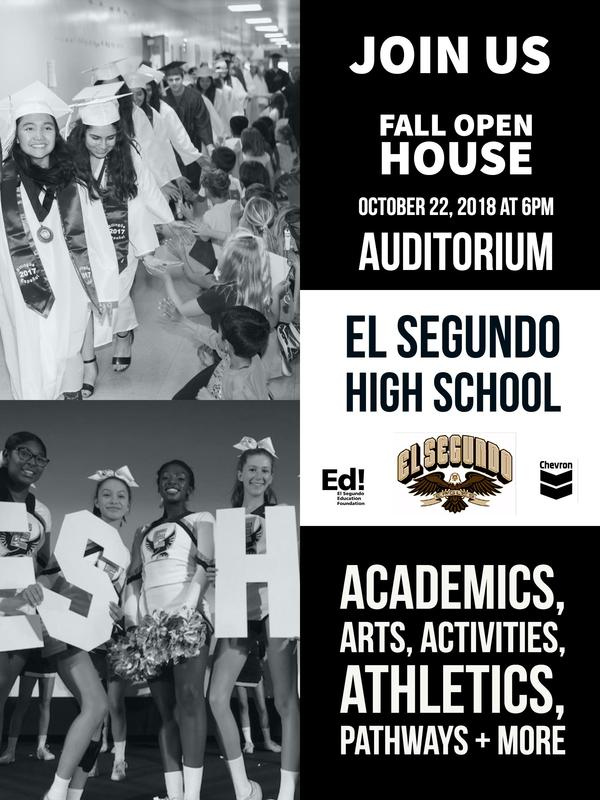 Middle School Families Invited to El Segundo High School's Open House October 22 Featured Photo