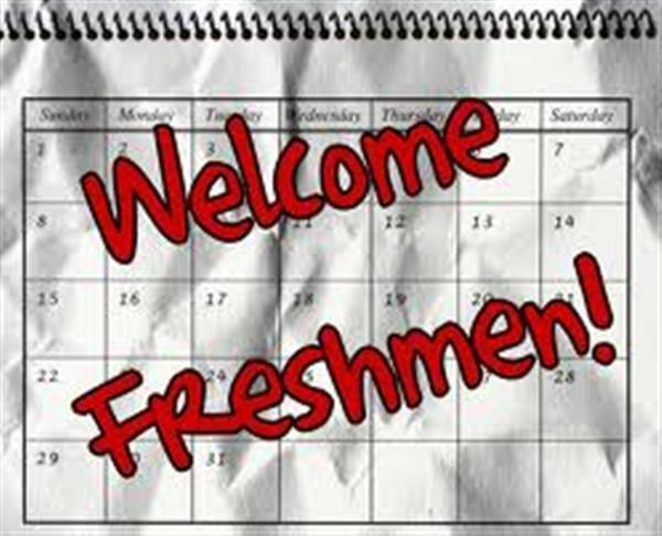Welcome Freshman Sign