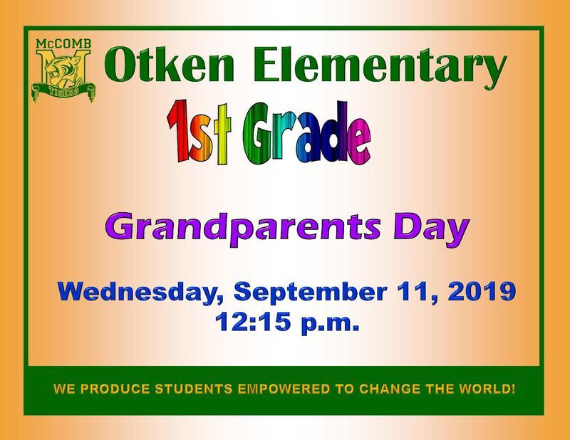 Otken Elementary 1st Grade Grandparents Day News