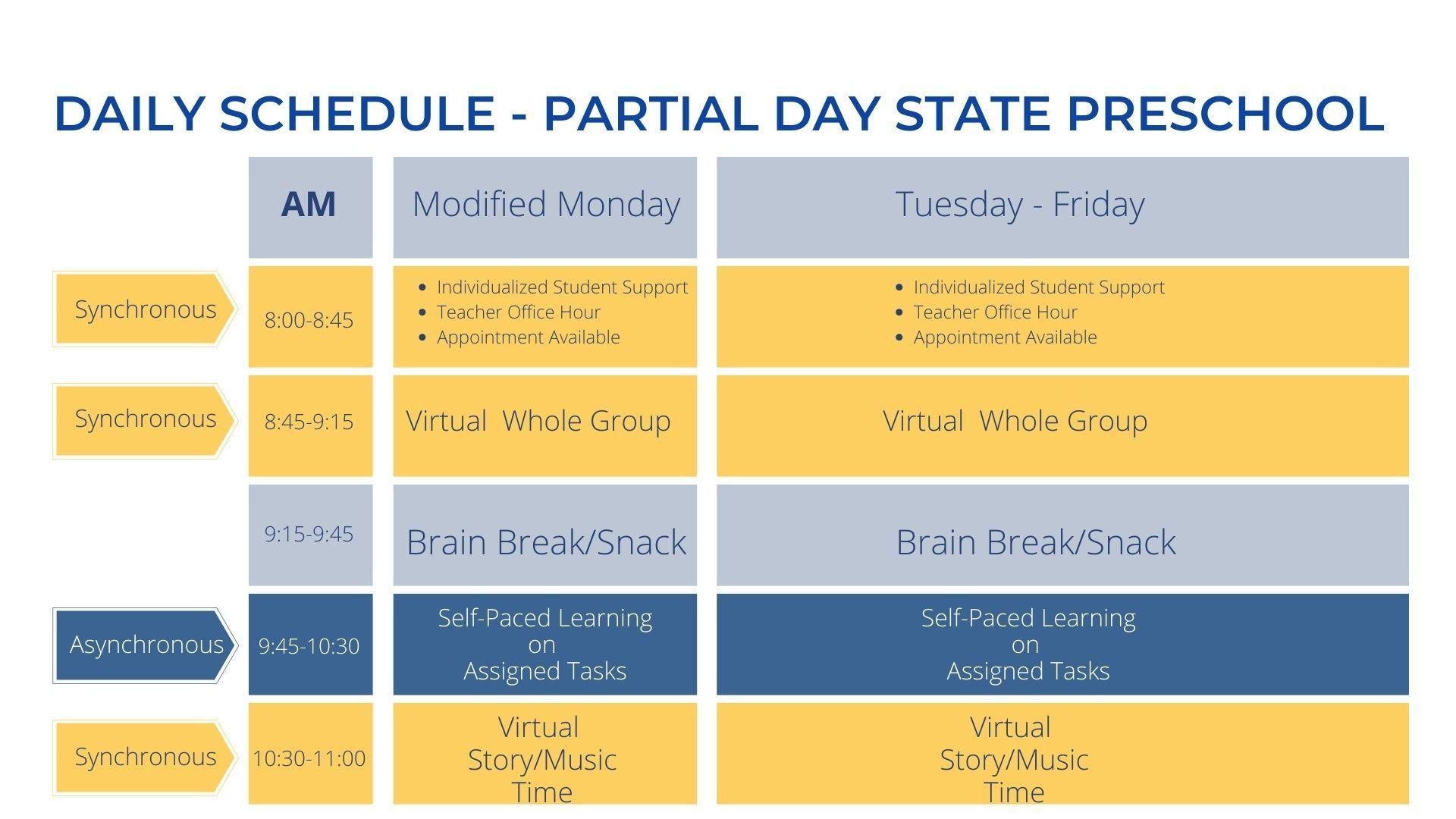 AM Partial Day State Preschool