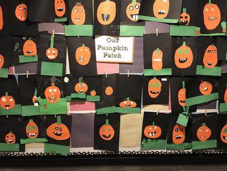 Kindergarten pumpkin art