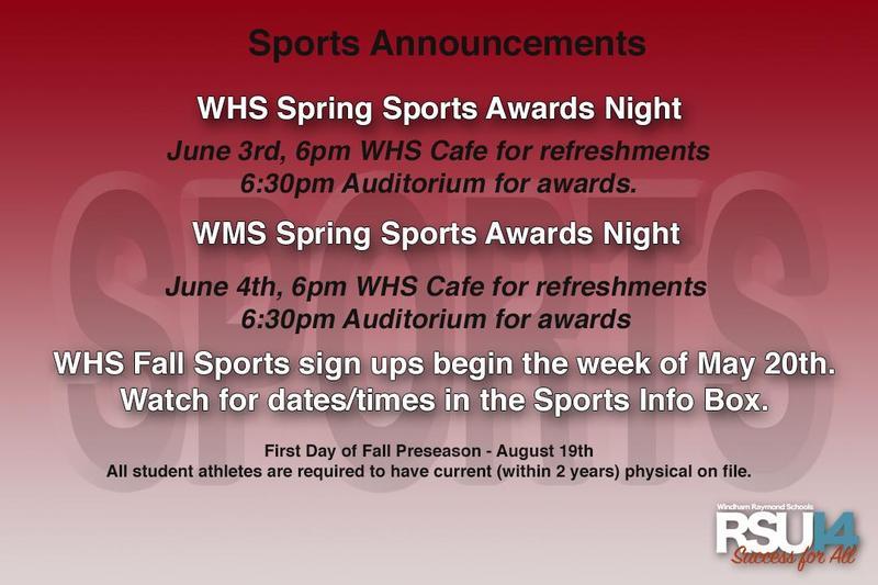 Sports Announcements