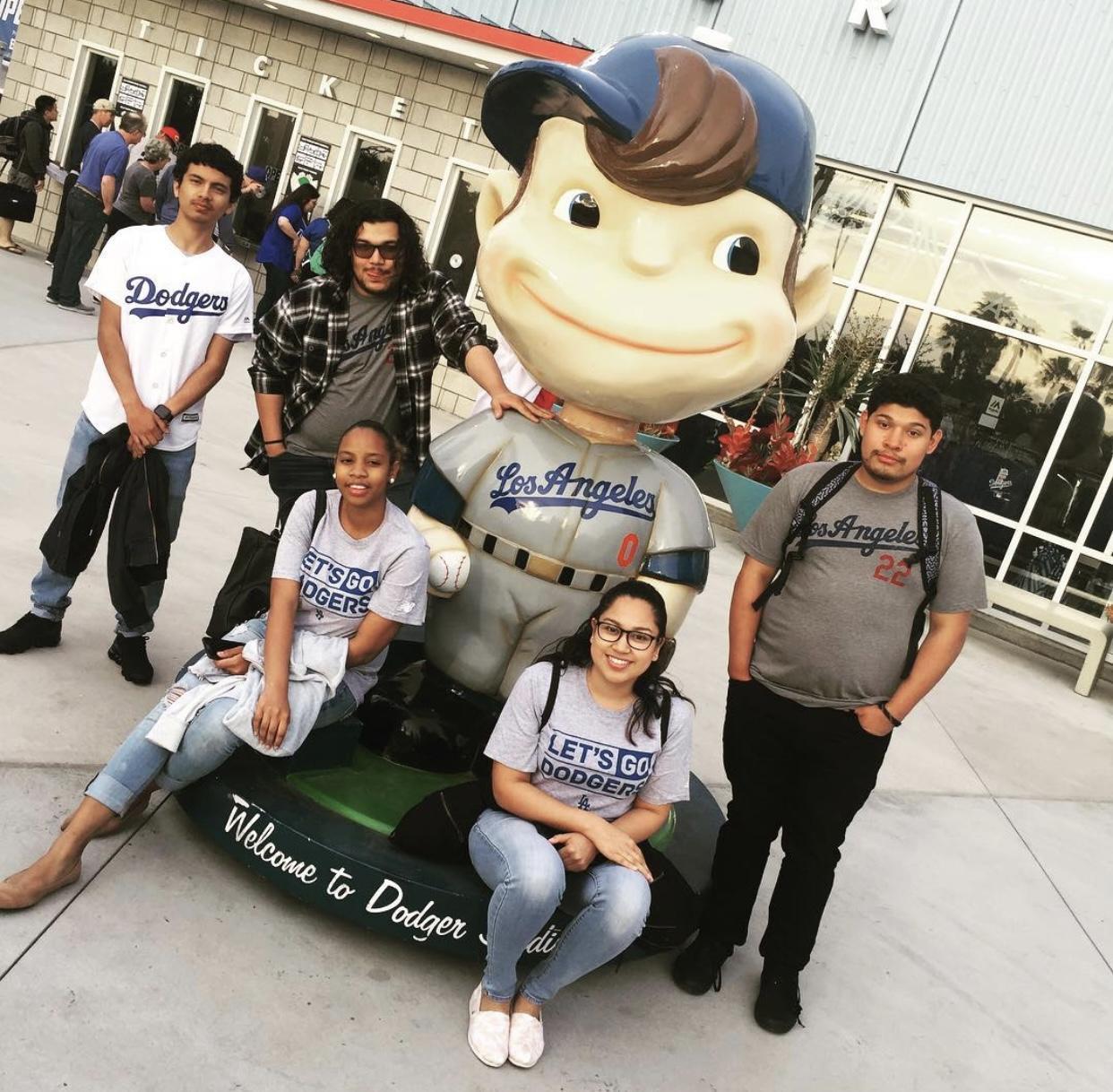 Avalon students at Dodger Stadium