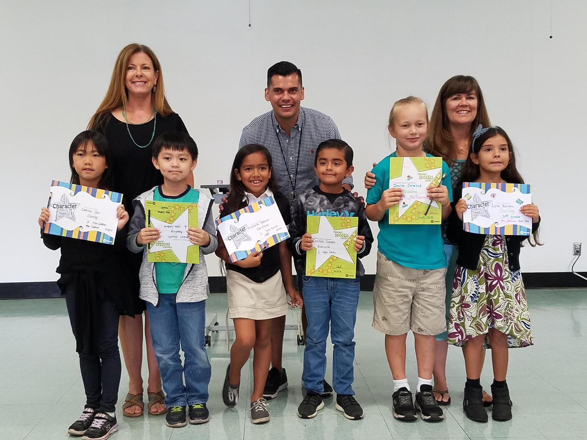 Second Grade Honorees