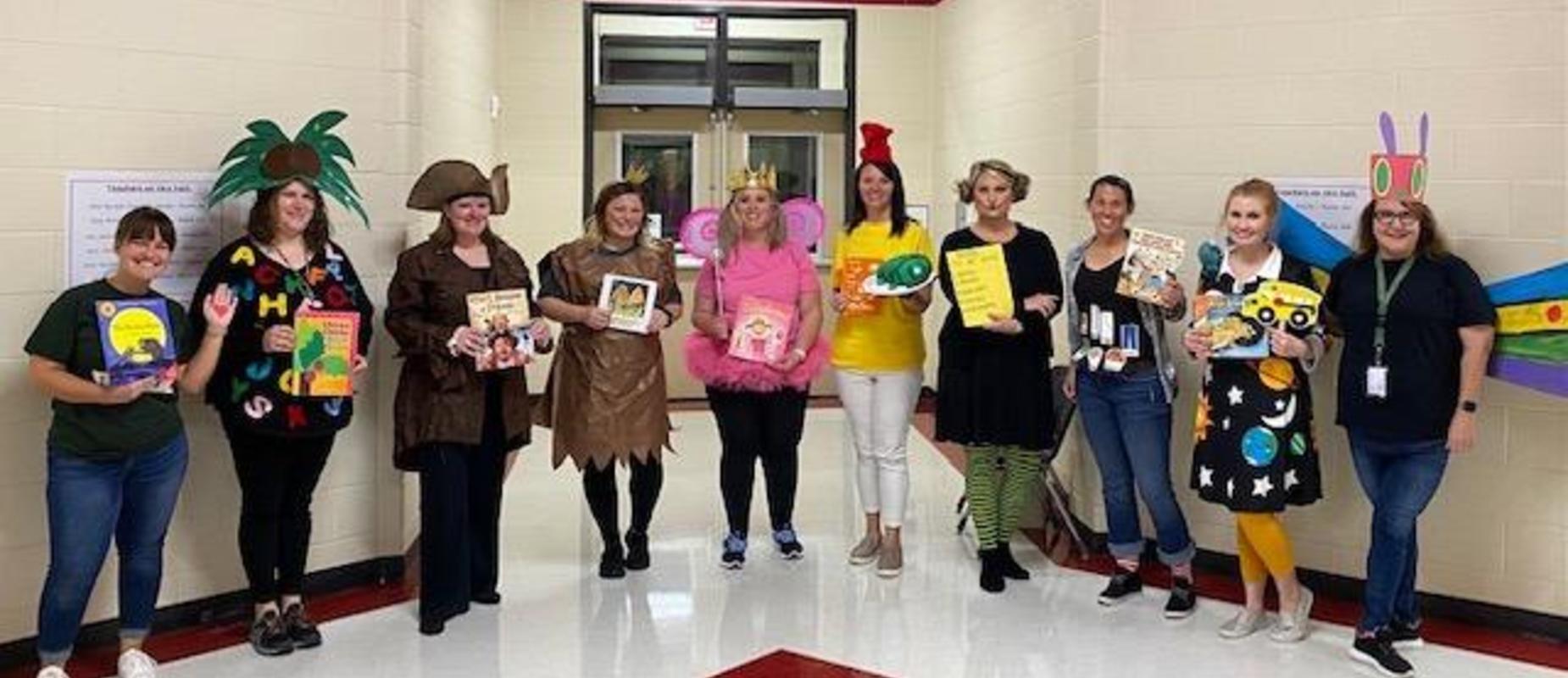 Kindergarten book character parade