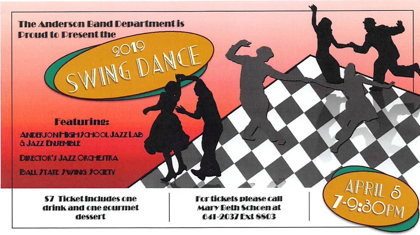 AHS Swing Dance flyer April 2019