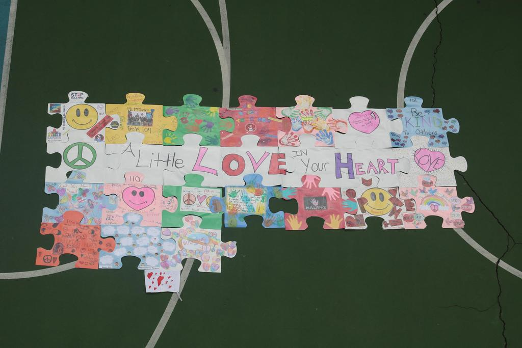 no bullying multiple colored hearts puzzle piece