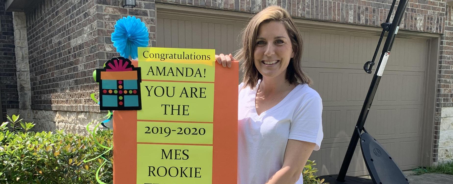 Mrs. Williamson, Rookie Teacher of the Year