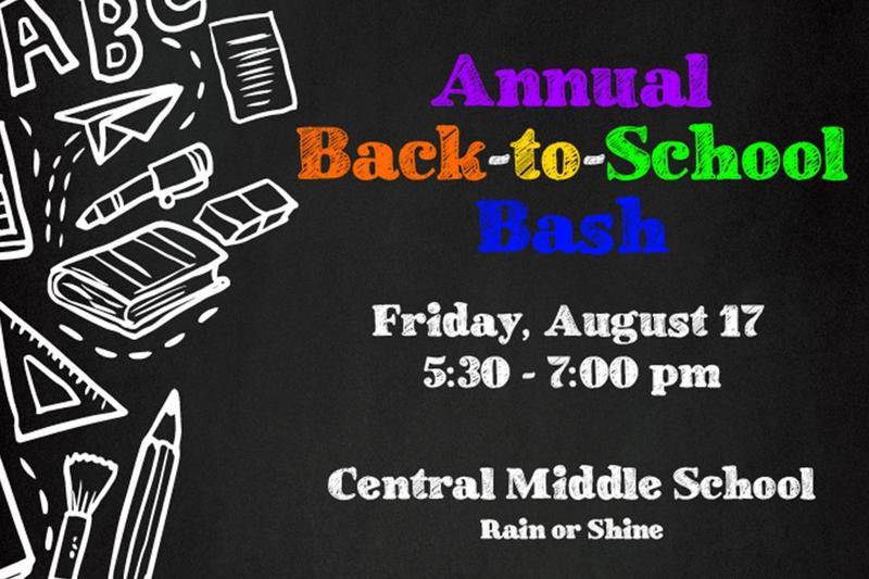 Back-to-School Bash scheudled for Aug. 17 Thumbnail Image