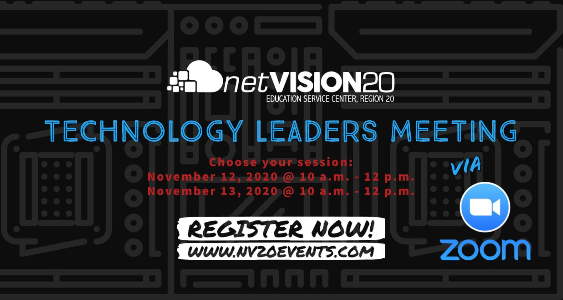 Technology Leaders Meeting, Register now!