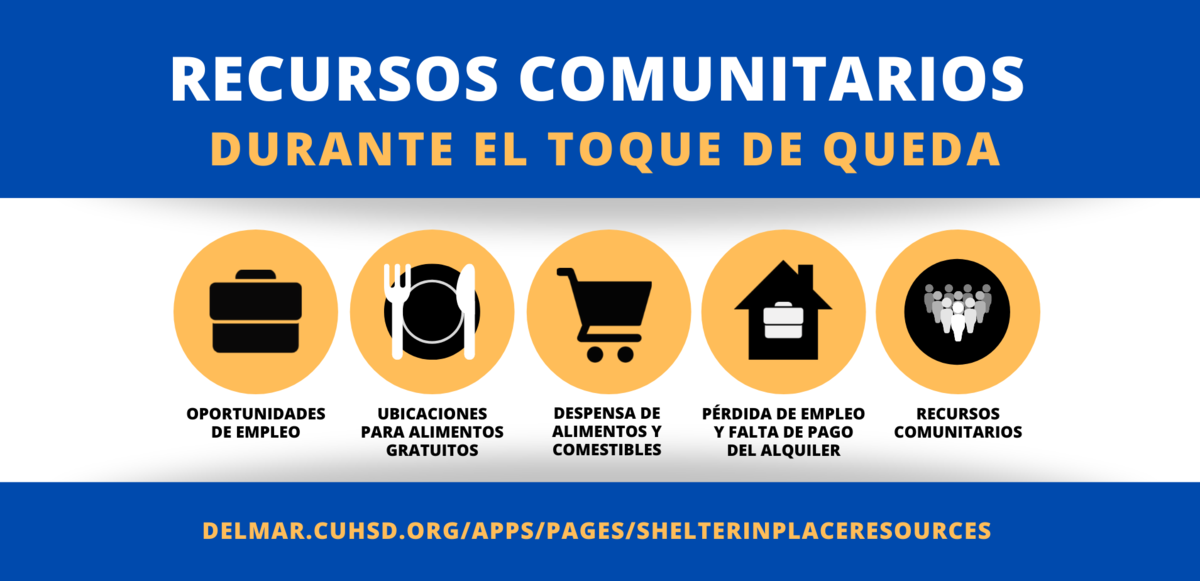 image of shelter in place resources flyer in spanish