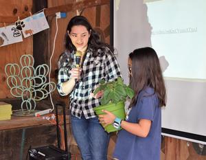 Student with speaker